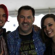 Jonathan with Arejay and Lzzy Hale...Halestorm.